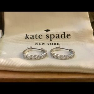Kate Spade Silver-Tone Full Circle Huggies